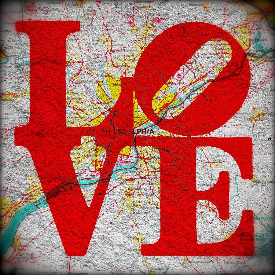 Brandi Fitzgerald Digital Art - Philly Love V1 by Brandi Fitzgerald