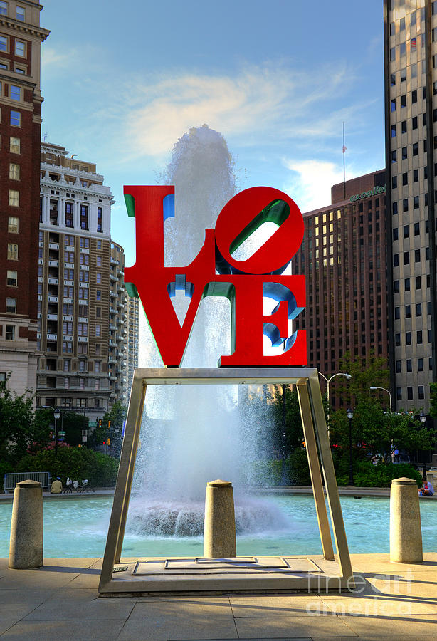 Love Park Photograph - Philly Love by Paul Ward
