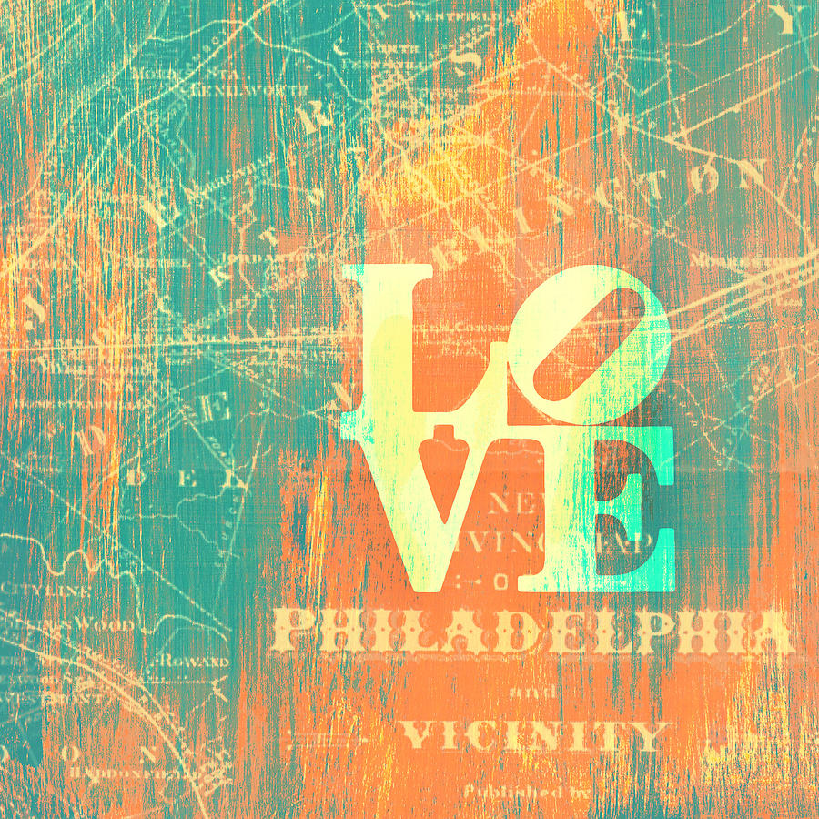 Brandi Fitzgerald Digital Art - Philly Love V10 by Brandi Fitzgerald