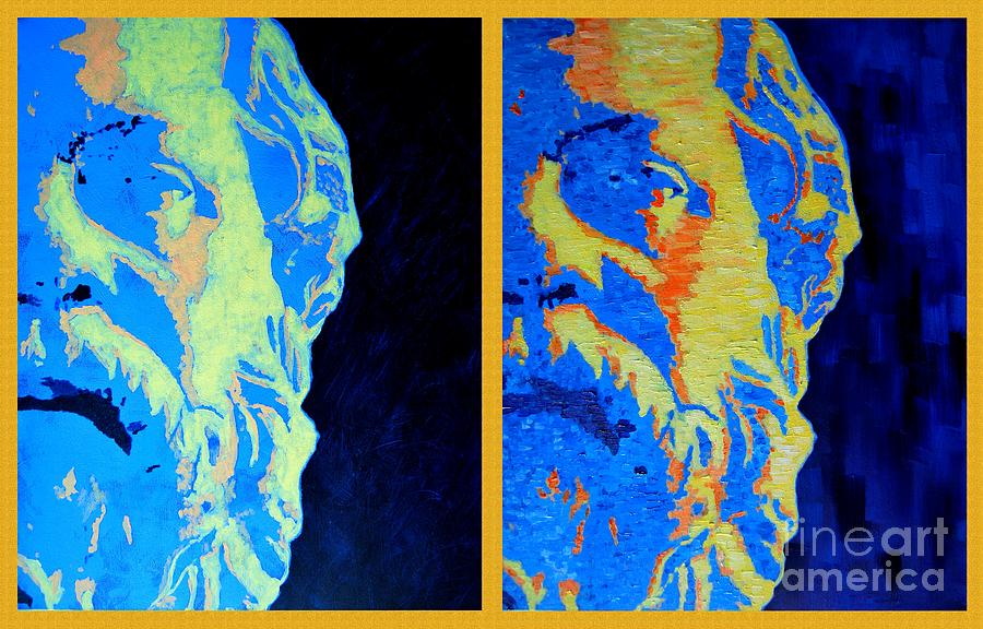 Socrates Painting - Philosopher - Socrates 2 by Ana Maria Edulescu