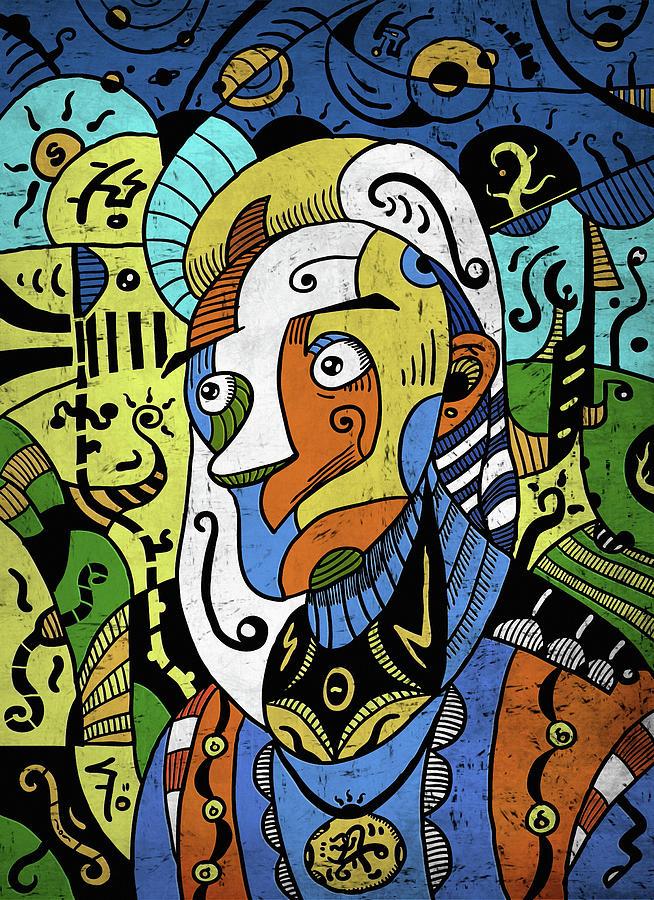 Philosopher Digital Art - Philosopher by Sotuland Art