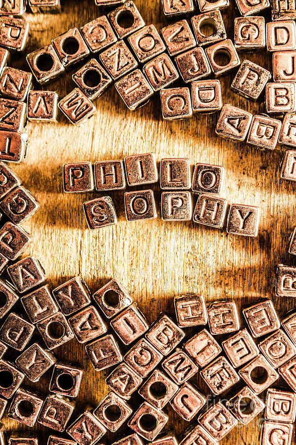 Intellectual Photograph - Philosophy Word Art by Jorgo Photography - Wall Art Gallery