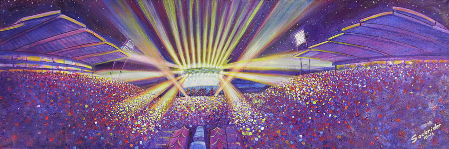 Phish Painting - Phish At Dicks 2016 by David Sockrider