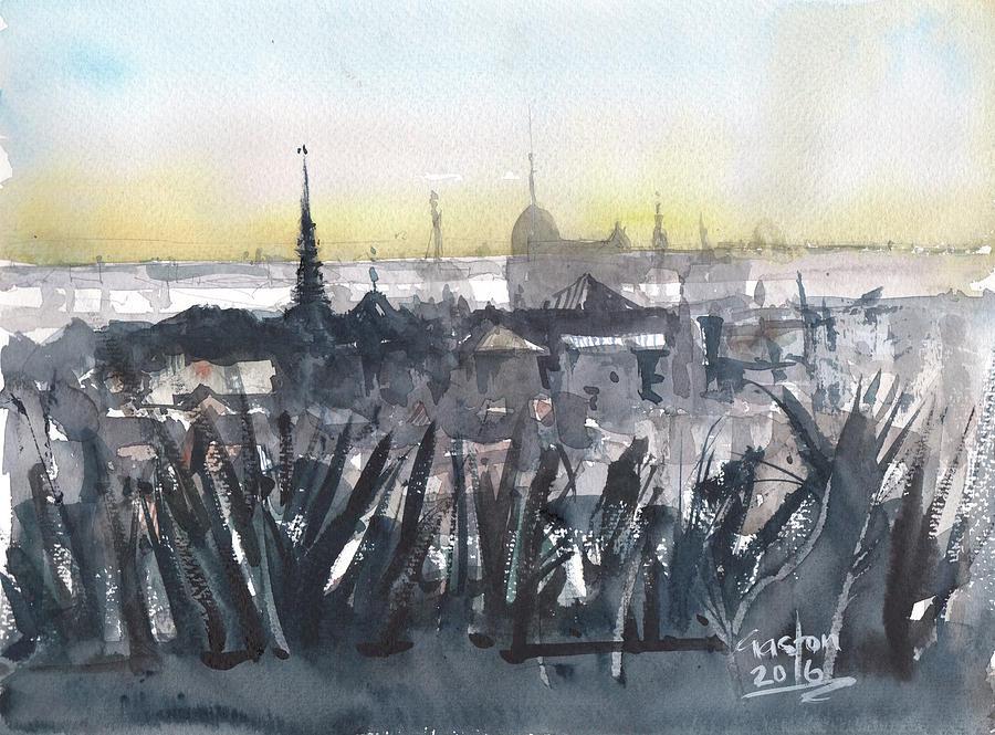 Cambodia Painting - Phnom Penh Panorama by Gaston McKenzie
