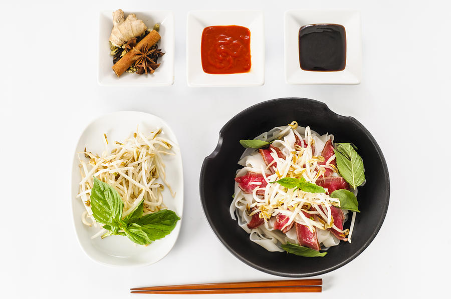 Pho - Vietnamese Rare Beef Noodle Soup Photograph