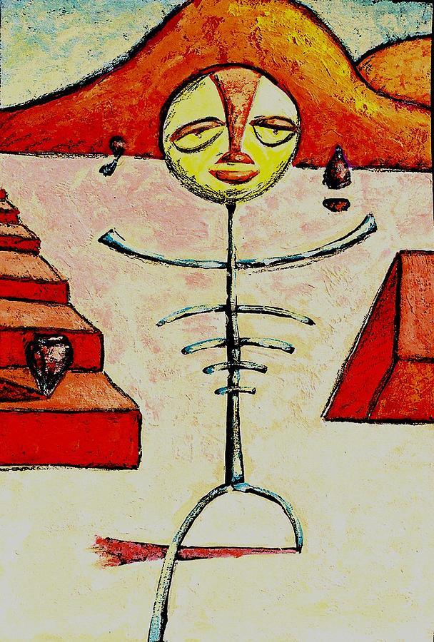 Stick Figure Painting - Phobias by Ronald Walker