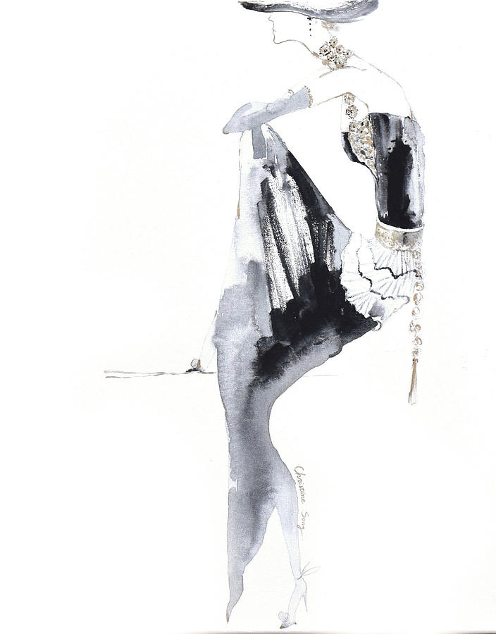Fashion Illustration Painting - Phoebe No.2 by Christine Song