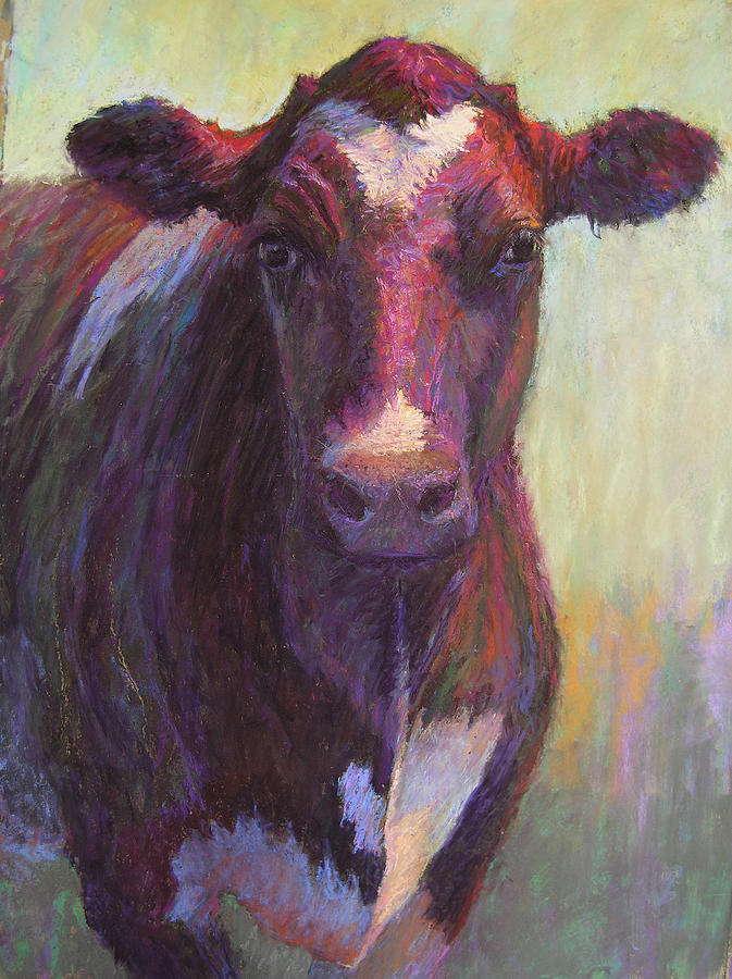 Cows Painting - Phoebe Of Merry Mead Farm by Susan Williamson