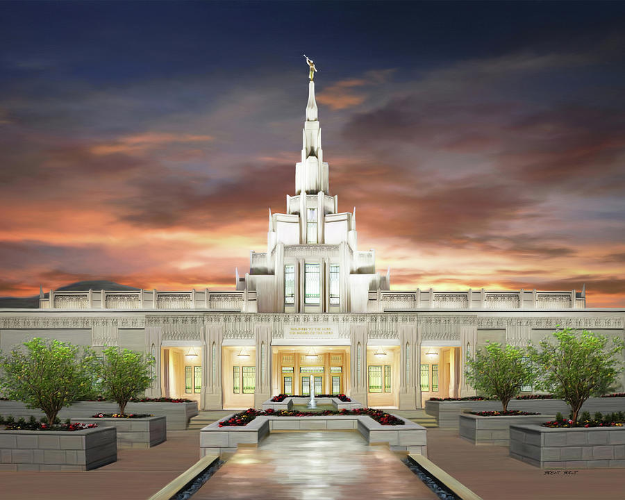 Phoenix Painting - Phoenix Arizona Temple by Brent Borup