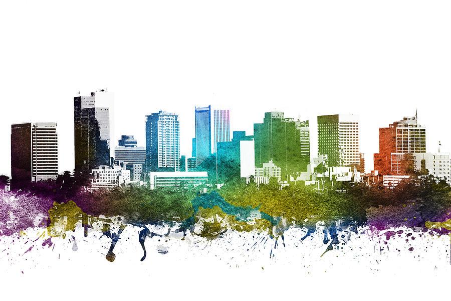Phoenix Digital Art - Phoenix Cityscape 01 by Aged Pixel
