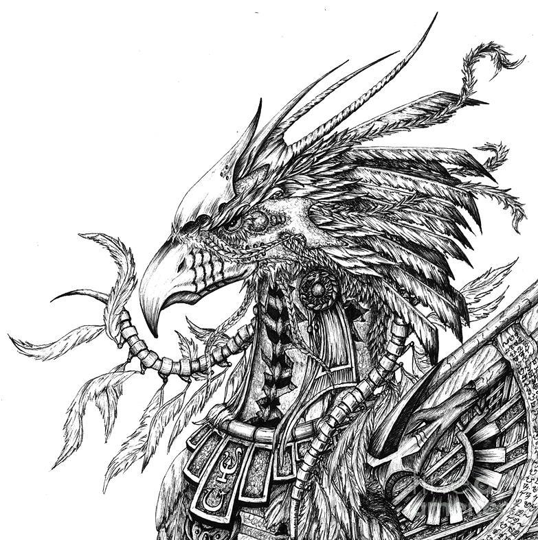 Phoenix Drawing - Phoenix by Emma Spears