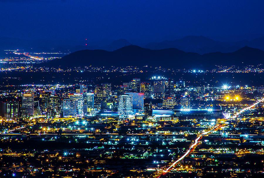 City Photograph - Phoenix Night Lights by Kyle Field