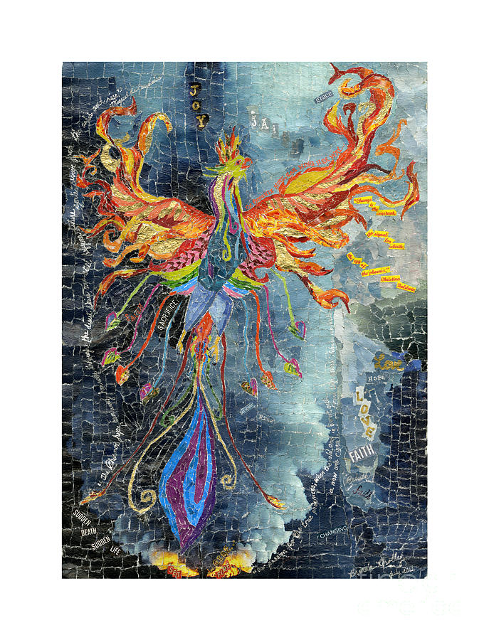 Phoenix Rising From The Ashes Mixed Media By Brenda Brolly