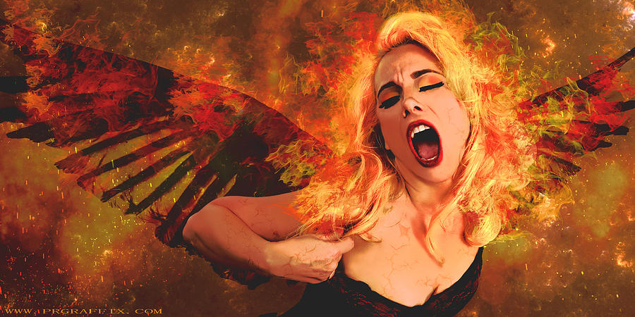 Phoenix Photograph - Phoenix Rising  by Gela Ghaderi