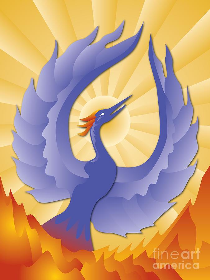 Phoenix Digital Art - Phoenix Rising by Joe Barsin