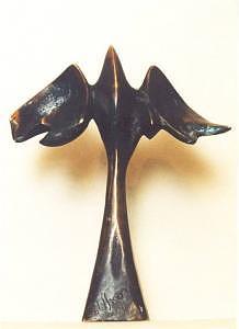 Mythology Sculpture - Phoenix by Vasko Vassilev
