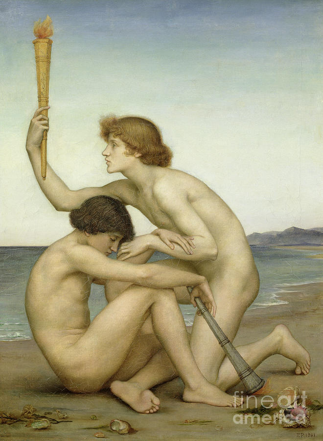 Gay Painting - Phosphorus And Hesperus by Evelyn De Morgan