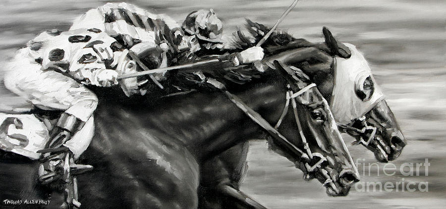 1940 Painting - Photo Finish by Thomas Allen Pauly