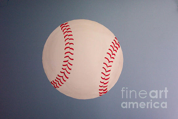 Baseball Photograph - Photo Of Painted Baseball by Linda Drown