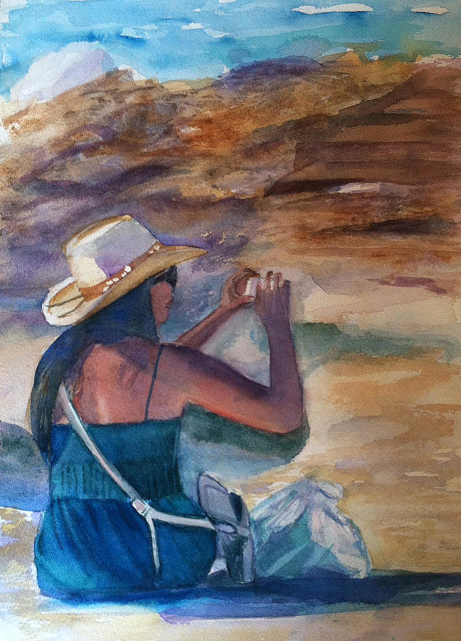 Beach Painting - Photo Shoot by Lynne Atwood