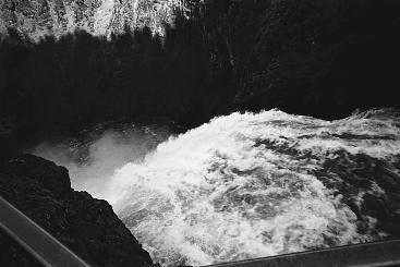 Landscape Photograph - Photo Upper Falls Yellowstone River by Gordon Lukesh