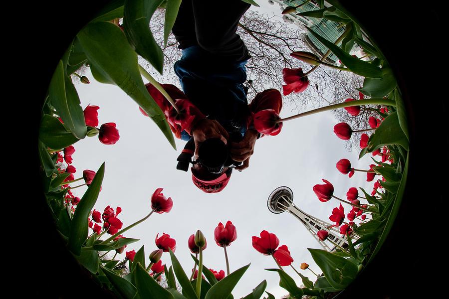 Seattle Photograph - Photographer In Wonderland H084 by Yoshiki Nakamura