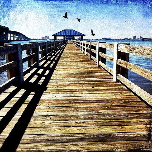Mississippi Photograph - Biloxi Bay Pier by Joan McCool