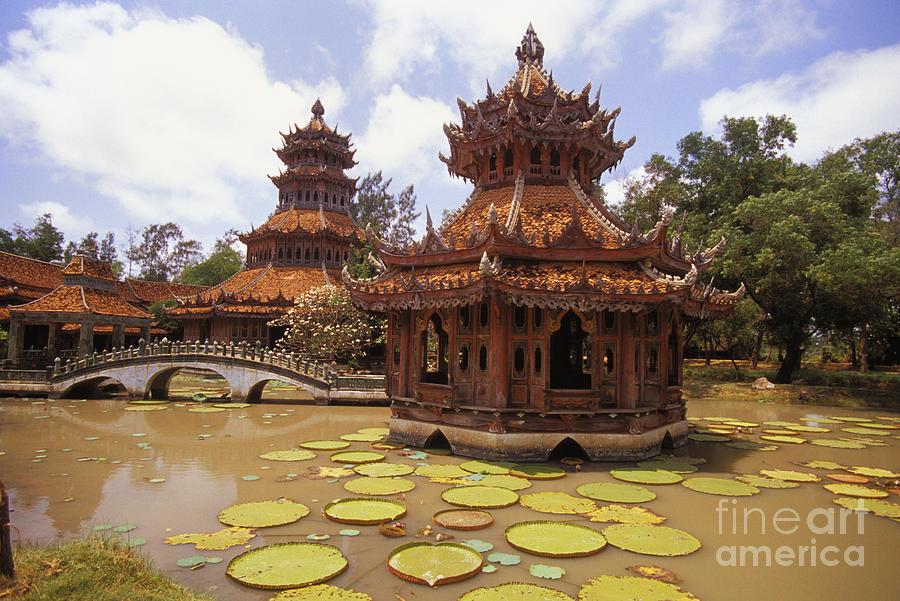 Ancient Photograph - Phra Kaew Pavillion by Bill Brennan - Printscapes