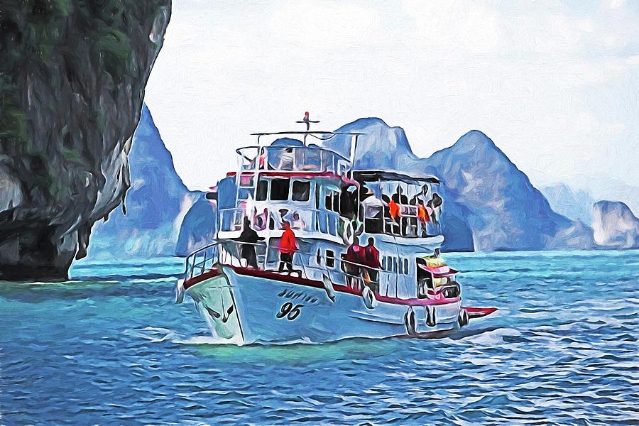 Phuket Cruise Boat Digital Art