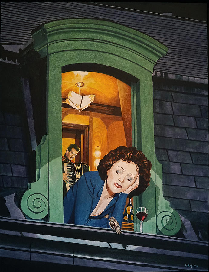 Edith Piaf Painting - Piaf by Jo King
