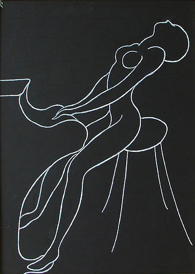 Pianist-woman Print by Lia Chechelashvili