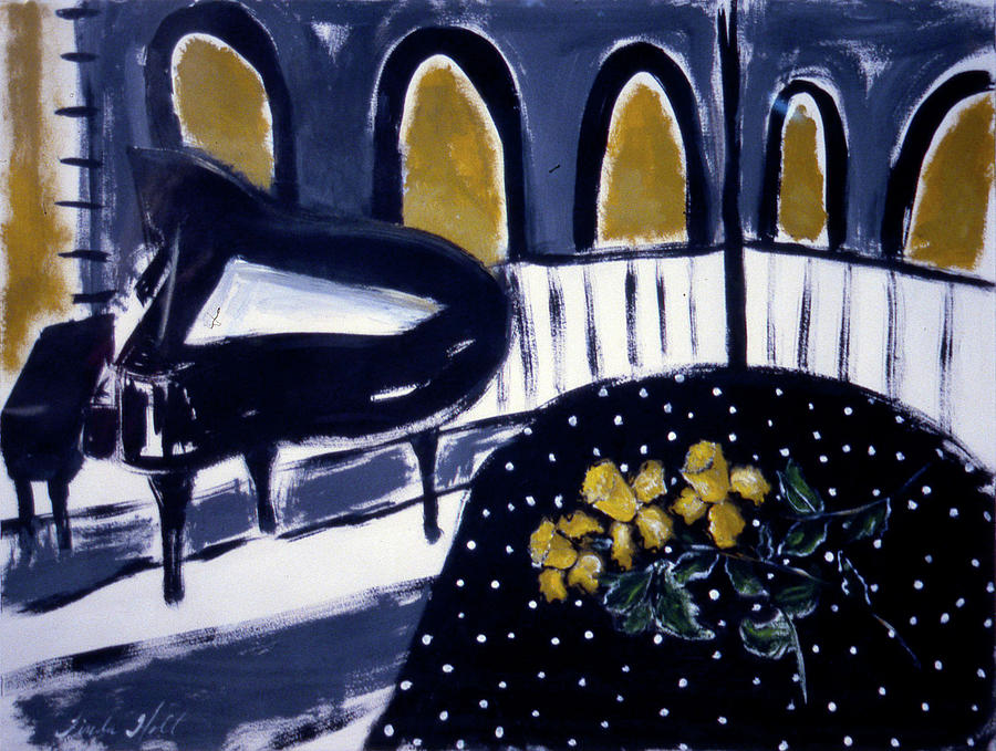 Piano and Daffodils by Linda Holt