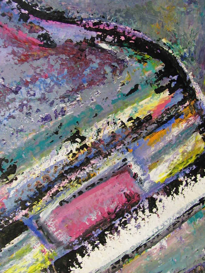 Piano Painting - Piano Close Up 2 by Anita Burgermeister