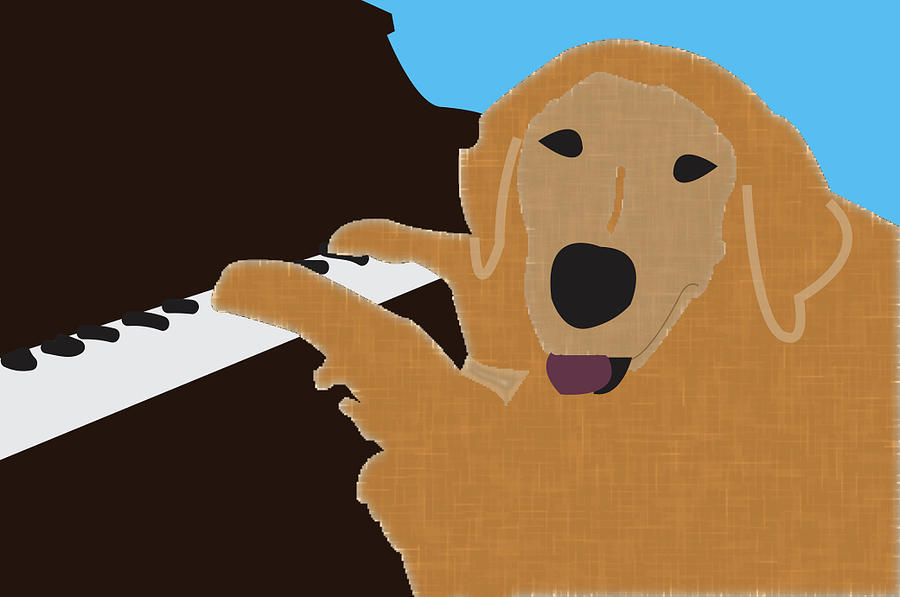 Piano Dog by Caroline Elgin