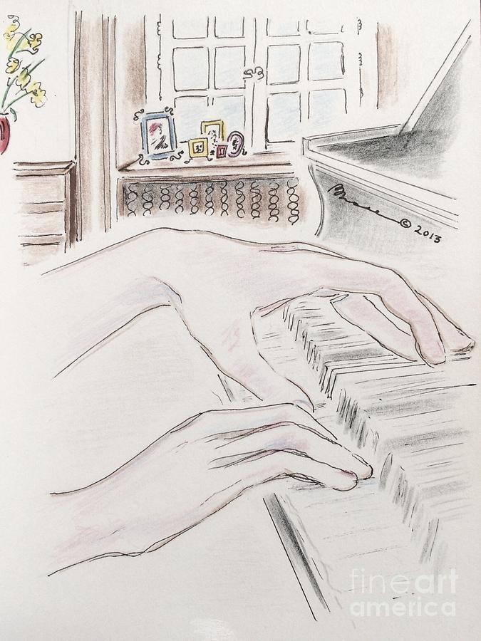 Piano Hands Drawing