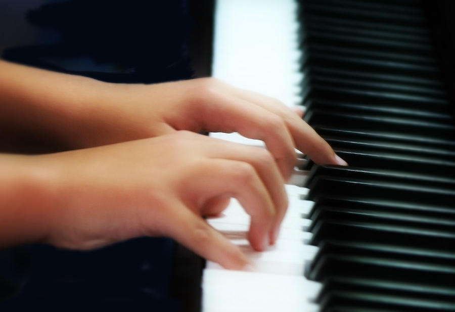 Hands Photograph - Piano Hands by Kevin Phipps