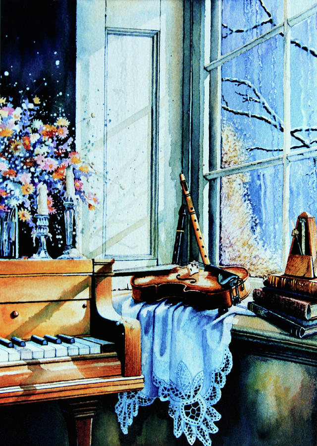 Still Life Painting Painting - Piano In The Sun by Hanne Lore Koehler