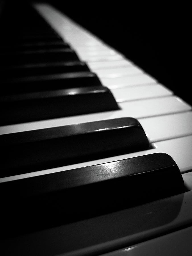 Piano Photograph - Piano Keys 1 by Jonathan Hansen