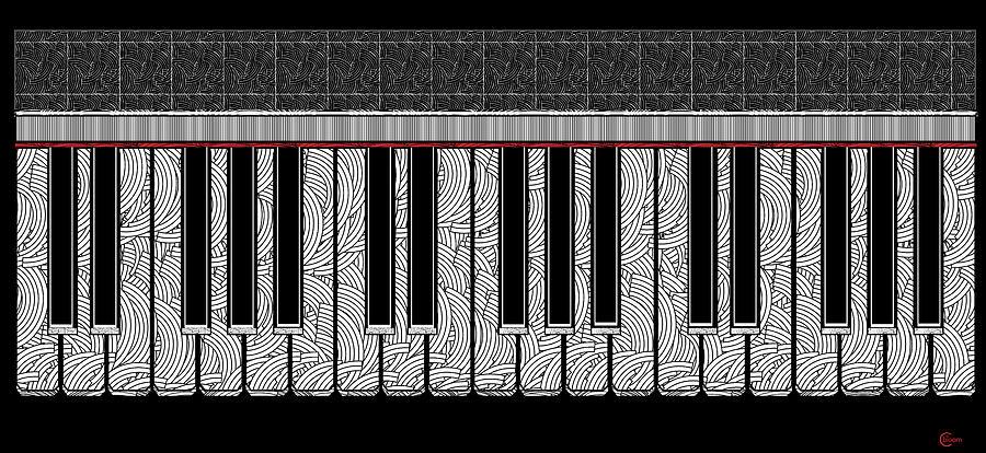 Piano Keys Rhythmic Deco  by Cecely Bloom