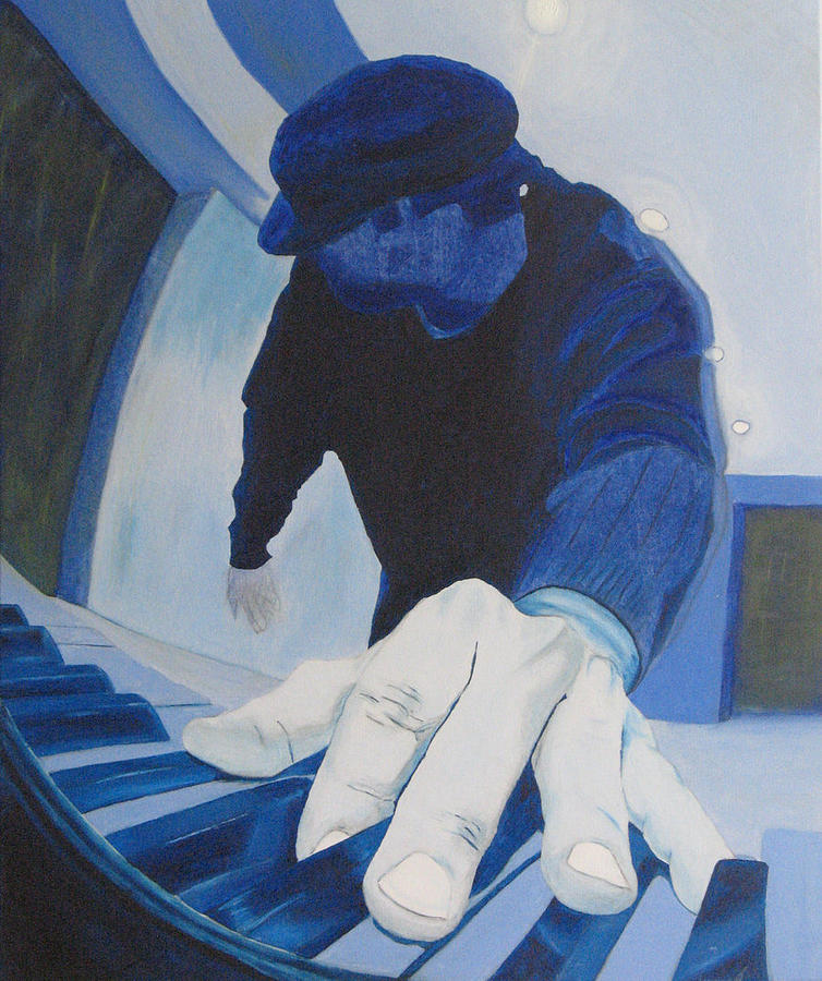 Piano Man Blues Painting by Andrew Gibson