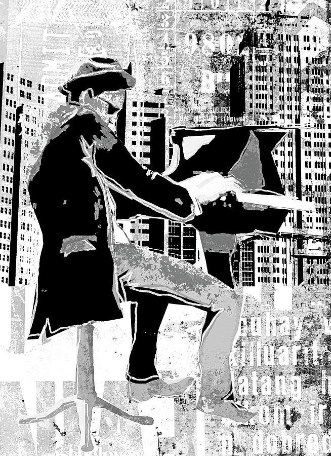 Digital Image Digital Art - Piano Man by Regina Wyatt
