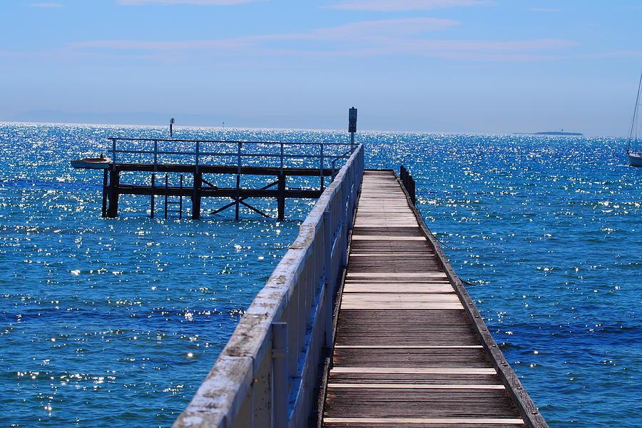 Piano Pier In Sorrento Australia by Ronald Rockman