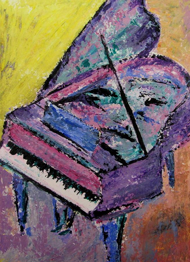Piano Pink Painting By Anita Burgermeister