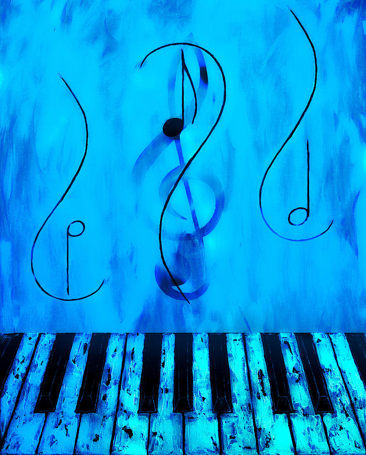 Piano Play Blue by Wayne Cantrell
