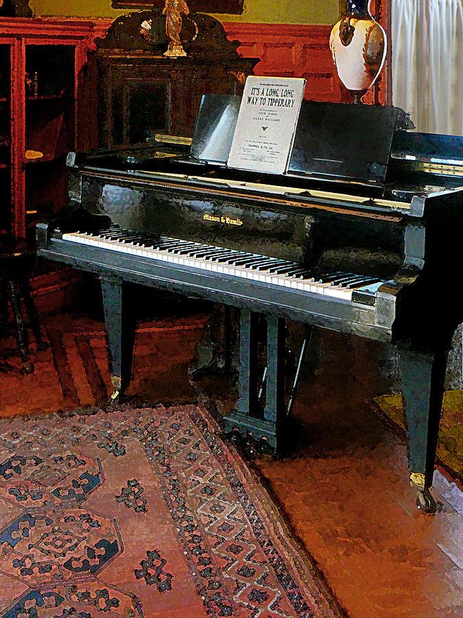 Piano Photograph - Piano With Sheet Music by Susan Savad