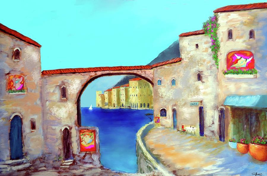 Tuscany Painting - Piazza Del La Artista by Larry Cirigliano