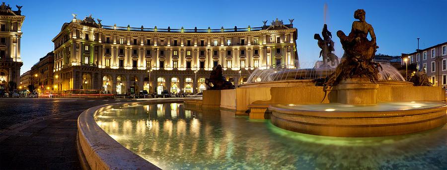 Rome Photograph - Piazza Della Repubblica by Fabrizio Troiani