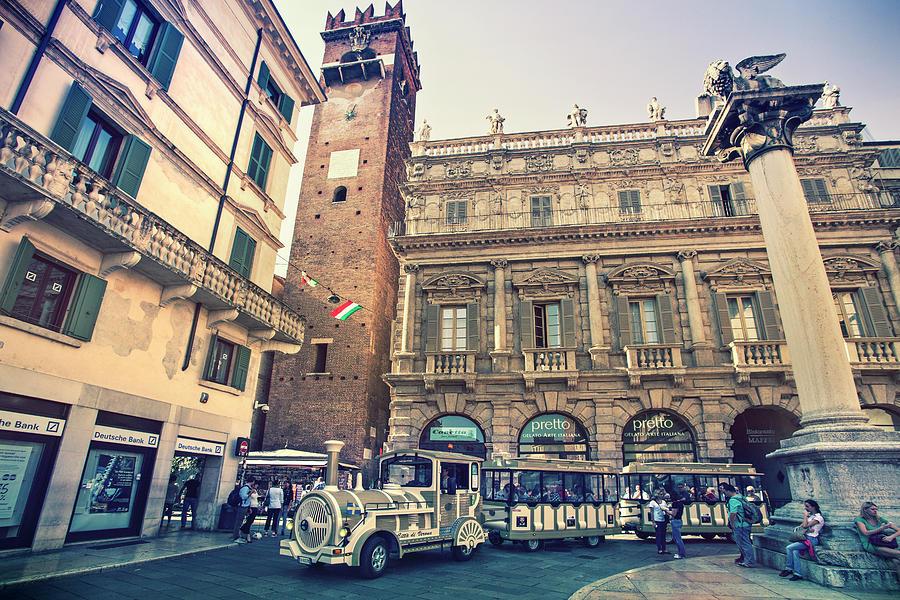 Verona Photograph - Piazza delle Erbe by Marc Henderson