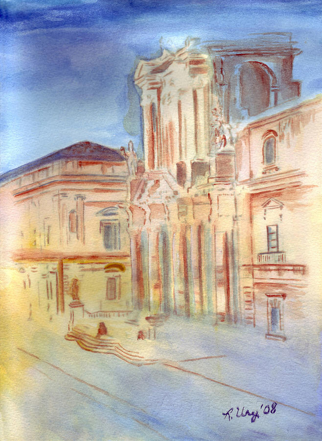 Italy Painting - Piazza Duomo by Rene Ury