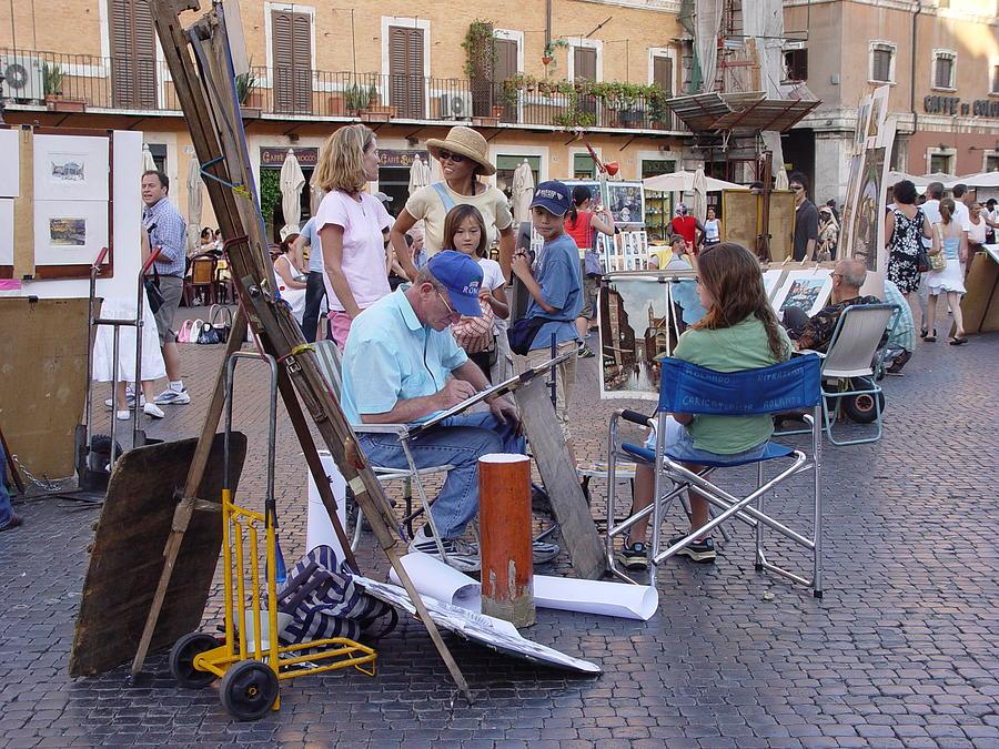 Piazza Navona Photograph - Piazza Navona by Angel Ortiz